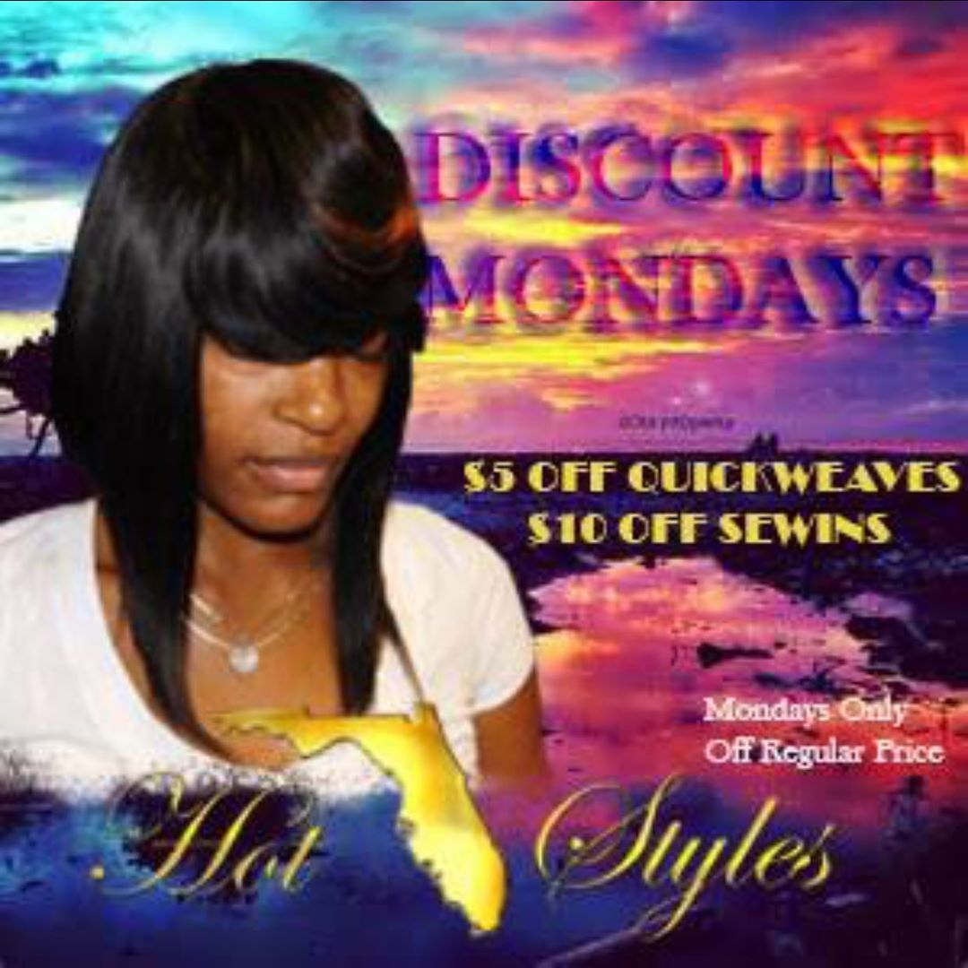 Discount Monday's are back. Starting August #discountmondays  #27piece #hair #hairweave #hairstyle #hairstyles #hairdos #hairstylist #atlanta #sewin #quickweave #quickweaves #weaves #lashes #makeup #hairdye #haircare #haircolor #hairideas #hairvideo #atlanta #florida #floridahair #haircut  #hotfloridastyles #27piecehairstyles Discount Monday's are back. Starting August #discountmondays  #27piece #hair #hairweave #hairstyle #hairstyles #hairdos #hairstylist #atlanta #sewin #quickweave #quickw #27piecehairstyles