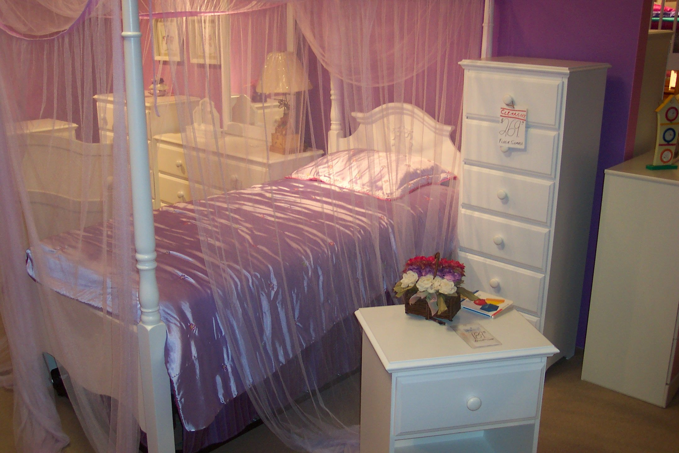 Sheer Canopy Girls bed canopy, Princess canopy toddler