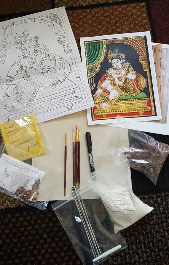 Do it yourself tanjore painting kits paintings illustrators and do it yourself tanjore painting kits solutioingenieria Images