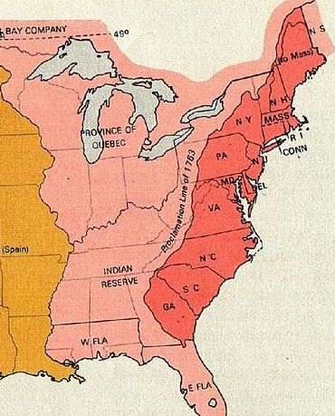 Map of the 13 Original Colonies | All things American! | American ...