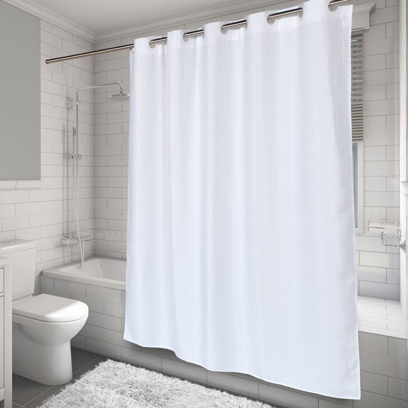 Hammitt Waffle Weave Single Shower Curtain Fabric Shower