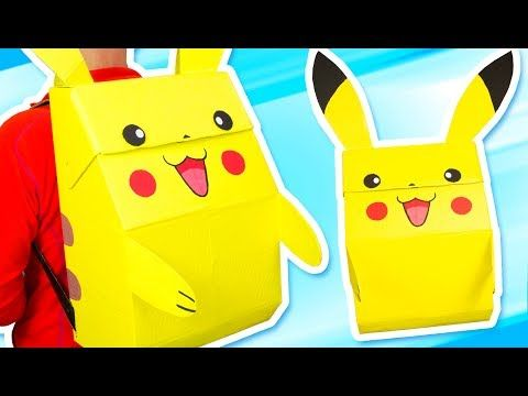 Photo of DIY Pikachu Backpack – Pokémon Costume   Craft Ideas for Kids on Box Yourself