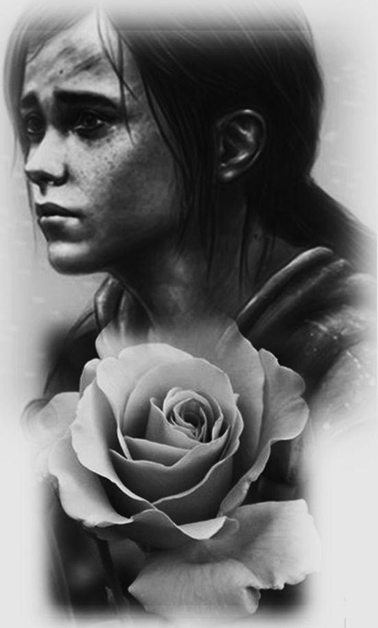 Ellie The Last Of Us Desenhos Preto E Branco Tatuagens