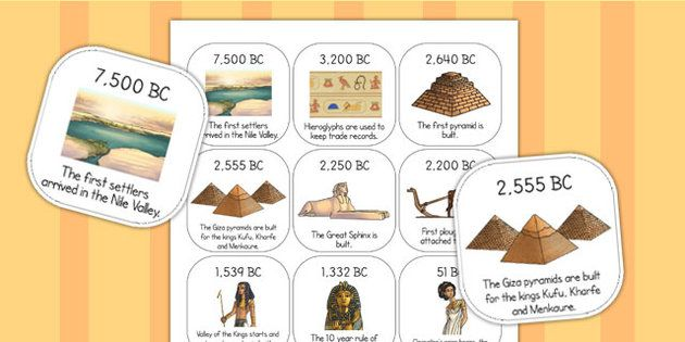 Ancient Egypt Timeline Ordering Activity | Ancient Egypt ...