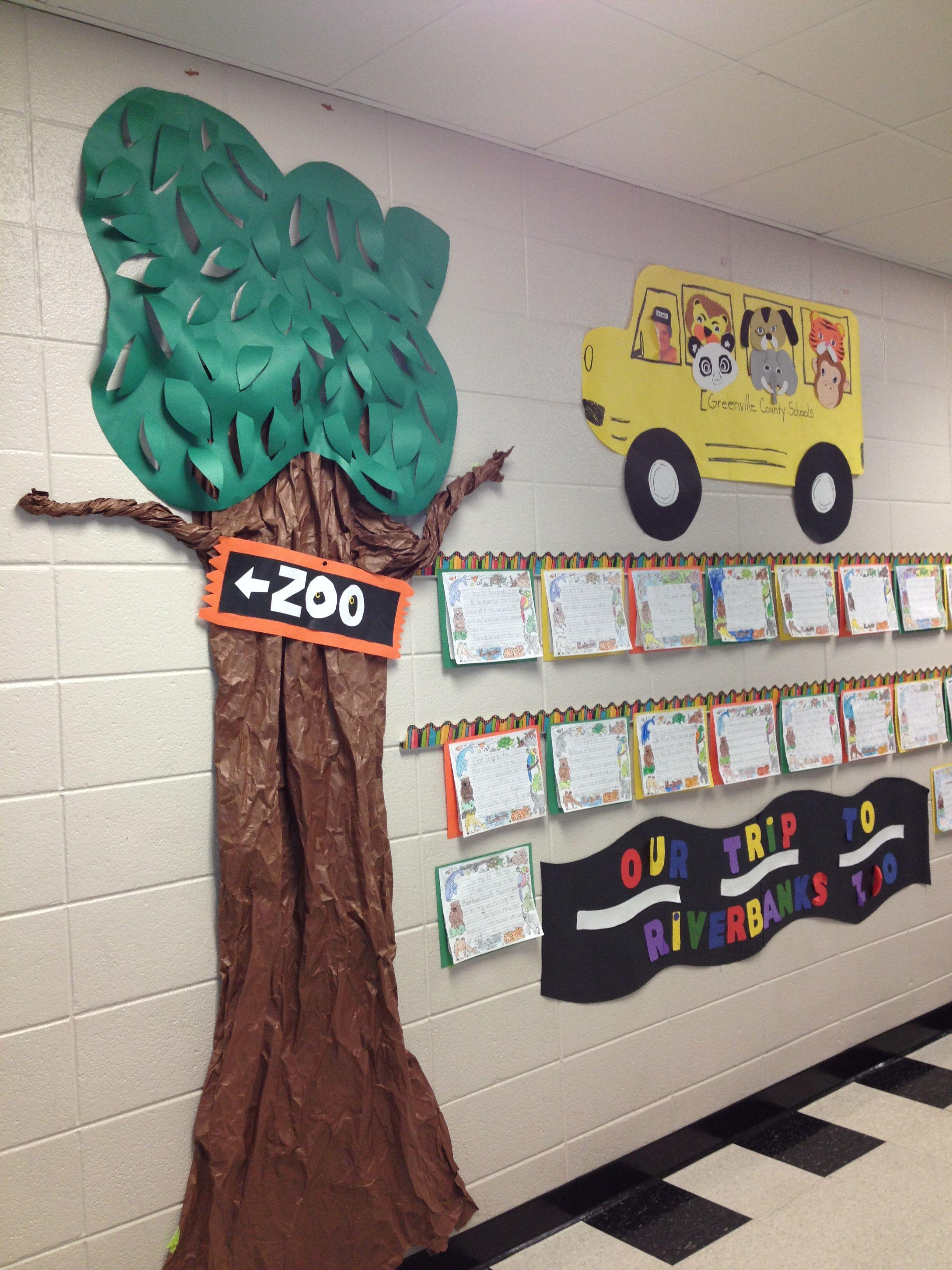 2nd Grade Bulletin Board Hallway Zoo Field Trip Month Last