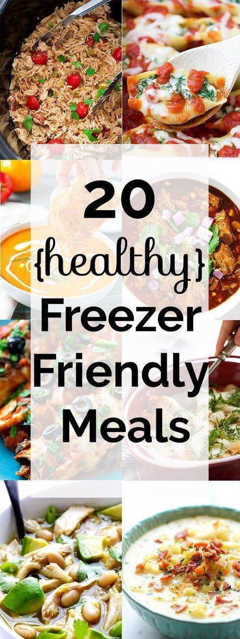 20 Healthy Freezer Friendly Meals from Scratch #healthycrockpots