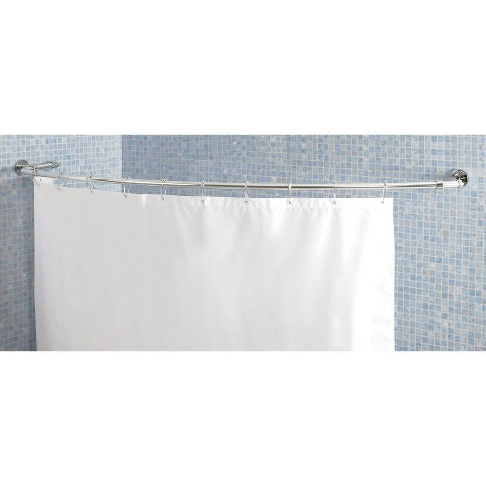 Buy Croydex Lux Curved Shower Curtain Rod Chrome Shower Poles