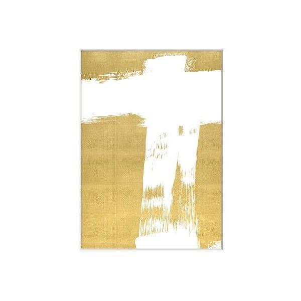 Williams-Sonoma White Strokes On Gold Set of 2 (28.660 RUB) ❤ liked ...
