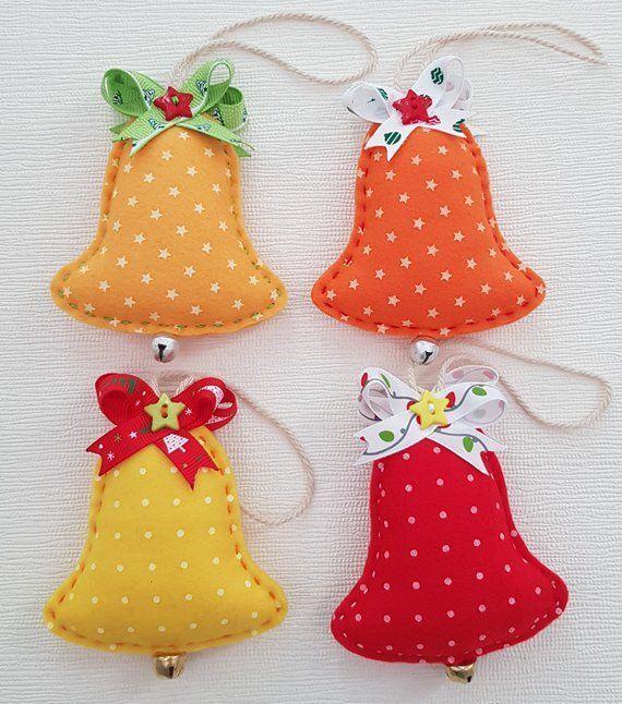 Christmas bell Soft felt ornament Felt christmas toy Christmas Tree Toy New year…