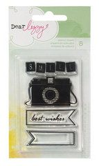 American Crafts - Dear Lizzy Neapolitan Collection - Clear Acrylic Stamps - Camera - $3.99