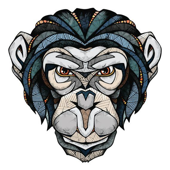 Chimpanzee Wall Sticker Decal By Andreas Preis Andreas Tiere