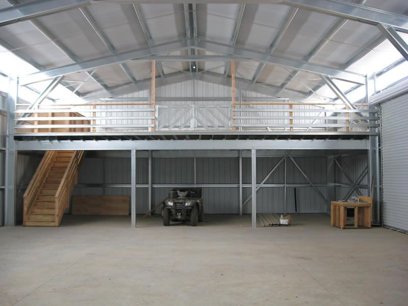 Residential garages sheds pacific steel buildings for Garage with loft apartment kit