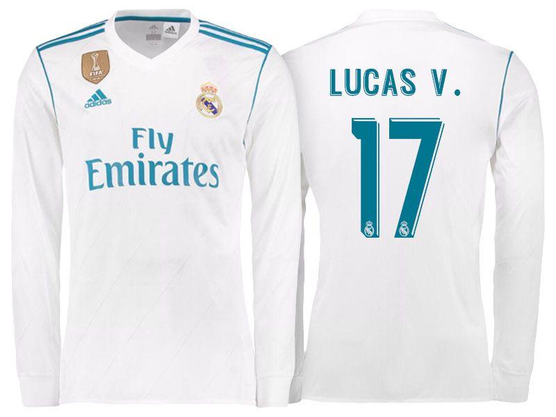 the latest 7070b 5c8b5 Real Madrid 17-18 Home LS Shirt lucas vazquez   cheap Real ...