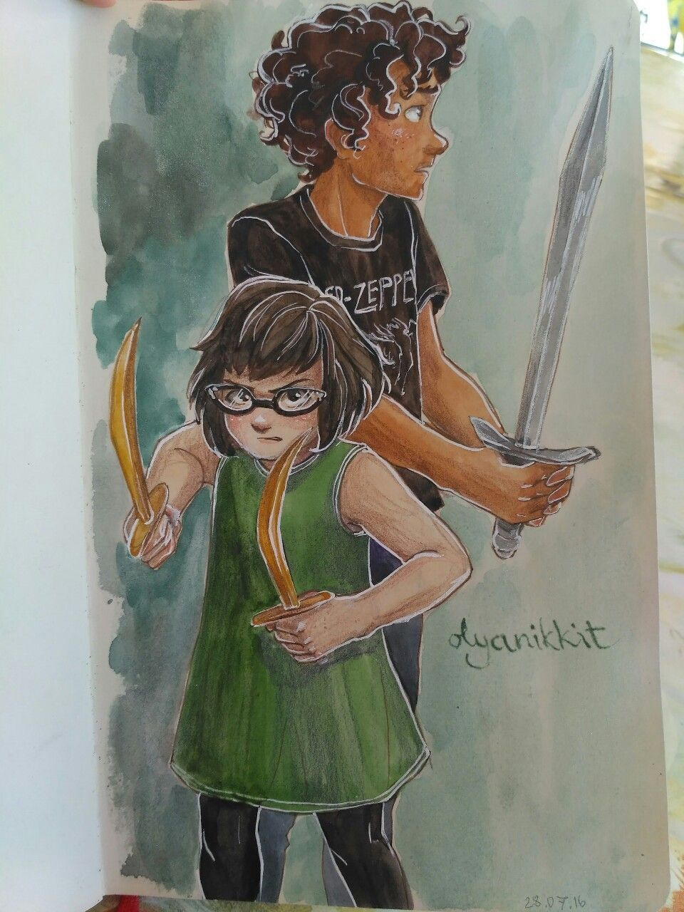 Meg Mccaffrey And Apollo From The Trials Of Apollo Apollo Percy Jackson Percy Jackson Fan Art Percy Jackson Books