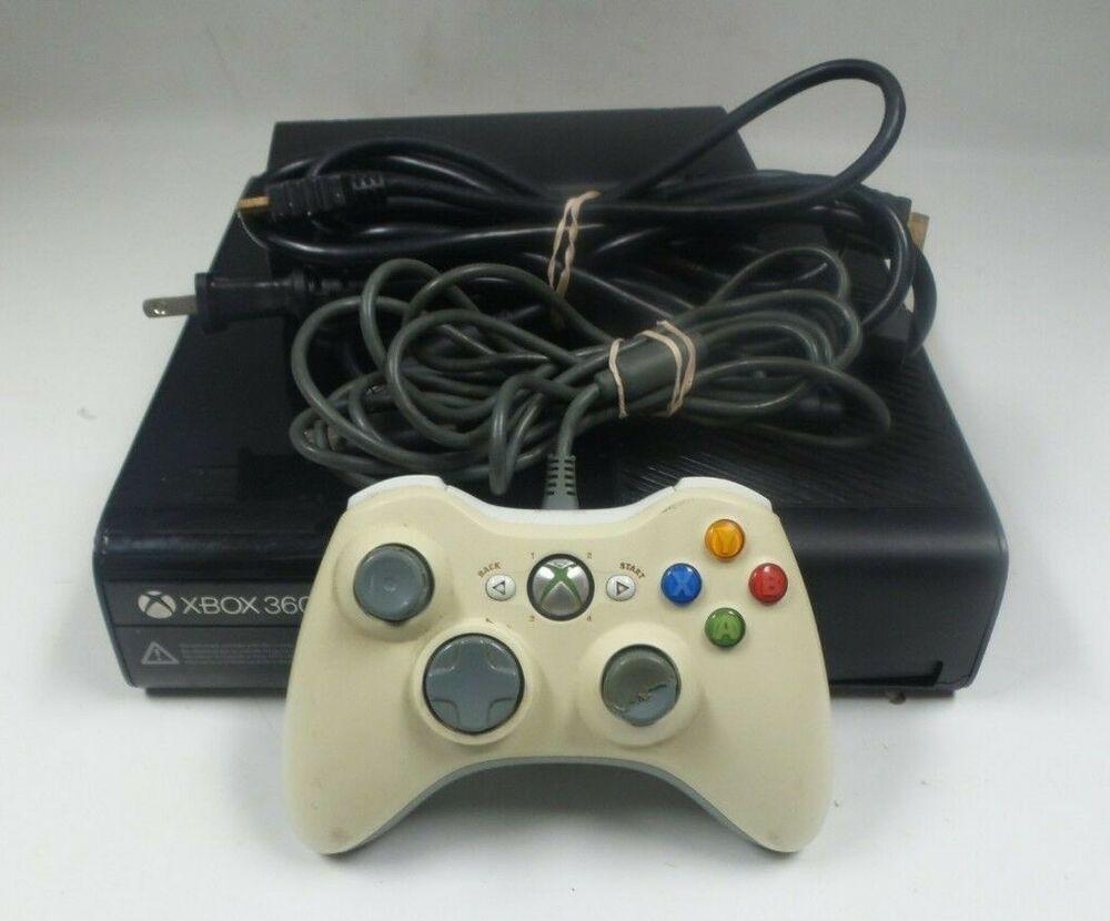 MA4) Xbox 360 E 4Gb Console, Wireless Controller Model 1538