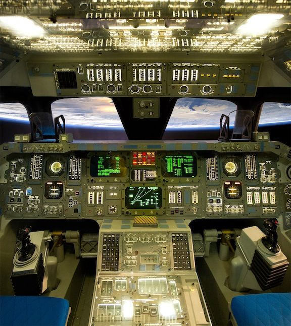 space shuttle cockpit takeoff - photo #1