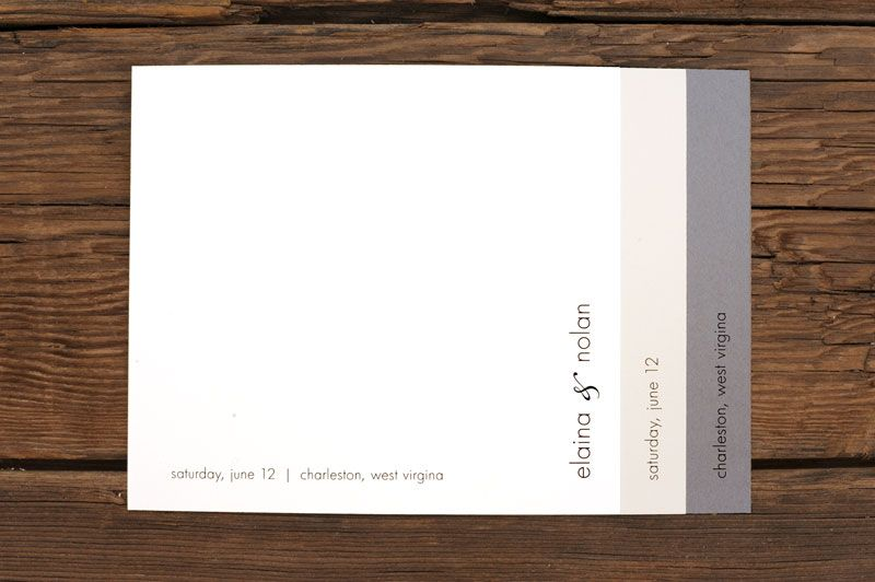 Layered Simple Wedding Invitations