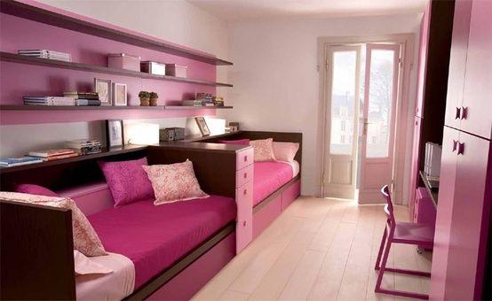 chambre pour deux filles   Chamber enfant   Conceptions de ...