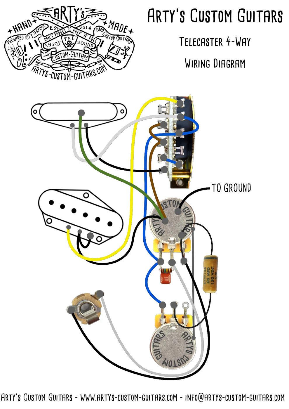 PREWIRED KIT 4Way TELECASTER Tele Fender esquire