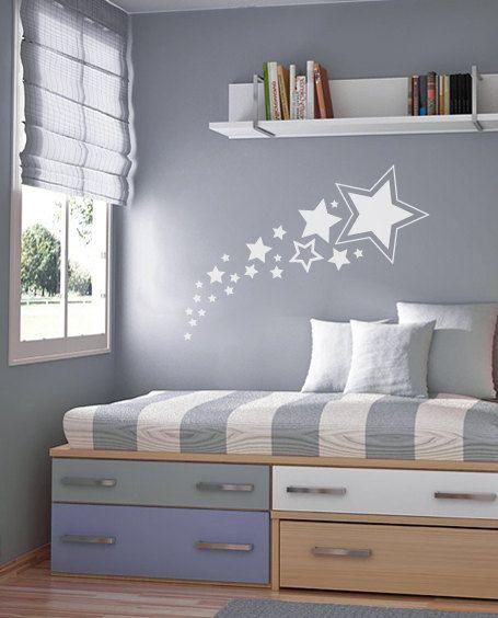 Shooting Stars Wall Decal Nursery Wall Decal By Graphicalinteriors - Nursery wall decals stars