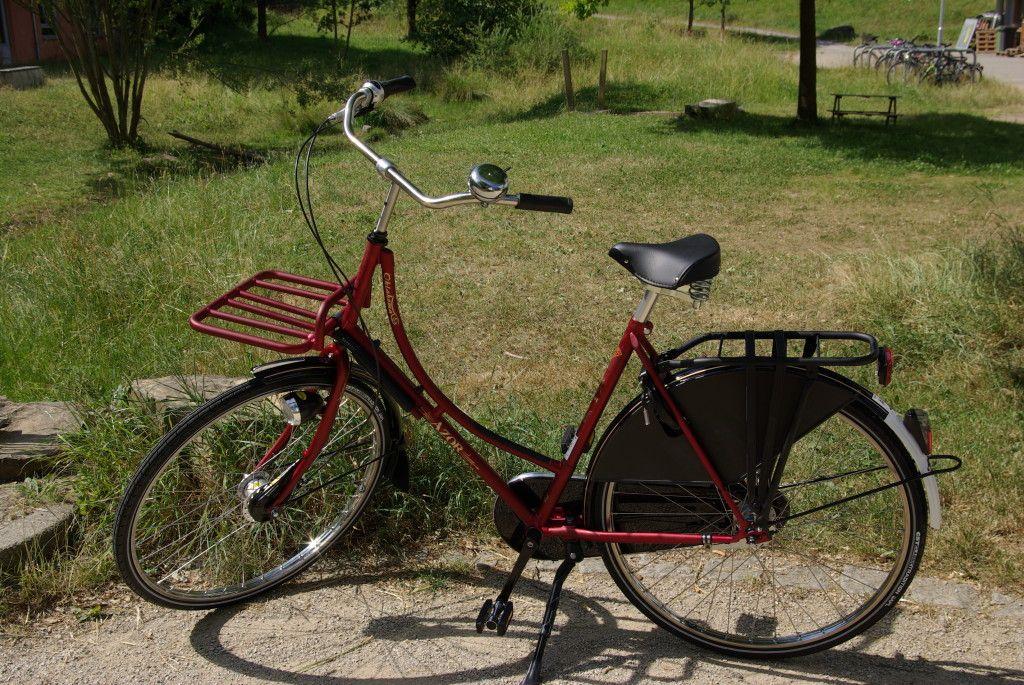 Azor Oklahoma mit Oma-Rahmen und Pick-Up-Vorderrad-Gepäckträger ...