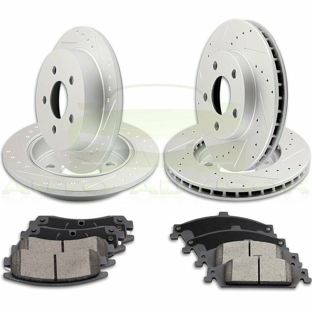1998 1999 For Oldsmobile Intrigue Rear Brake Rotors and Brake Pads