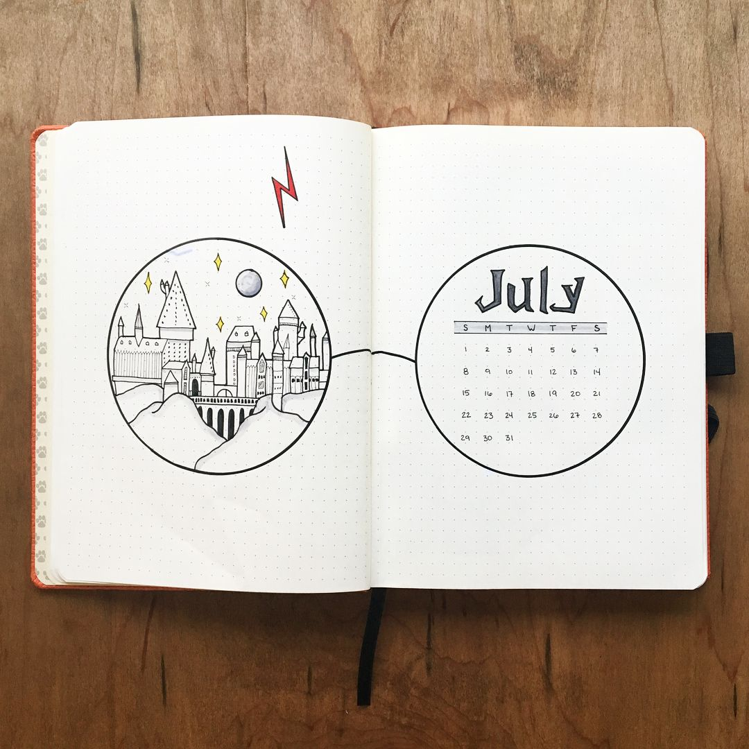 Hogwarts, Hogwarts, Hoggy Warty Hogwarts, Teach us something please! ????⚡️???? #hogwartsismyhome . . . Here is my July cover page with Hogwarts… #bulletjournalideas