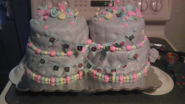 Baby Girl Shower Cake made by me Krystal's Kreations Worc find me on facebook