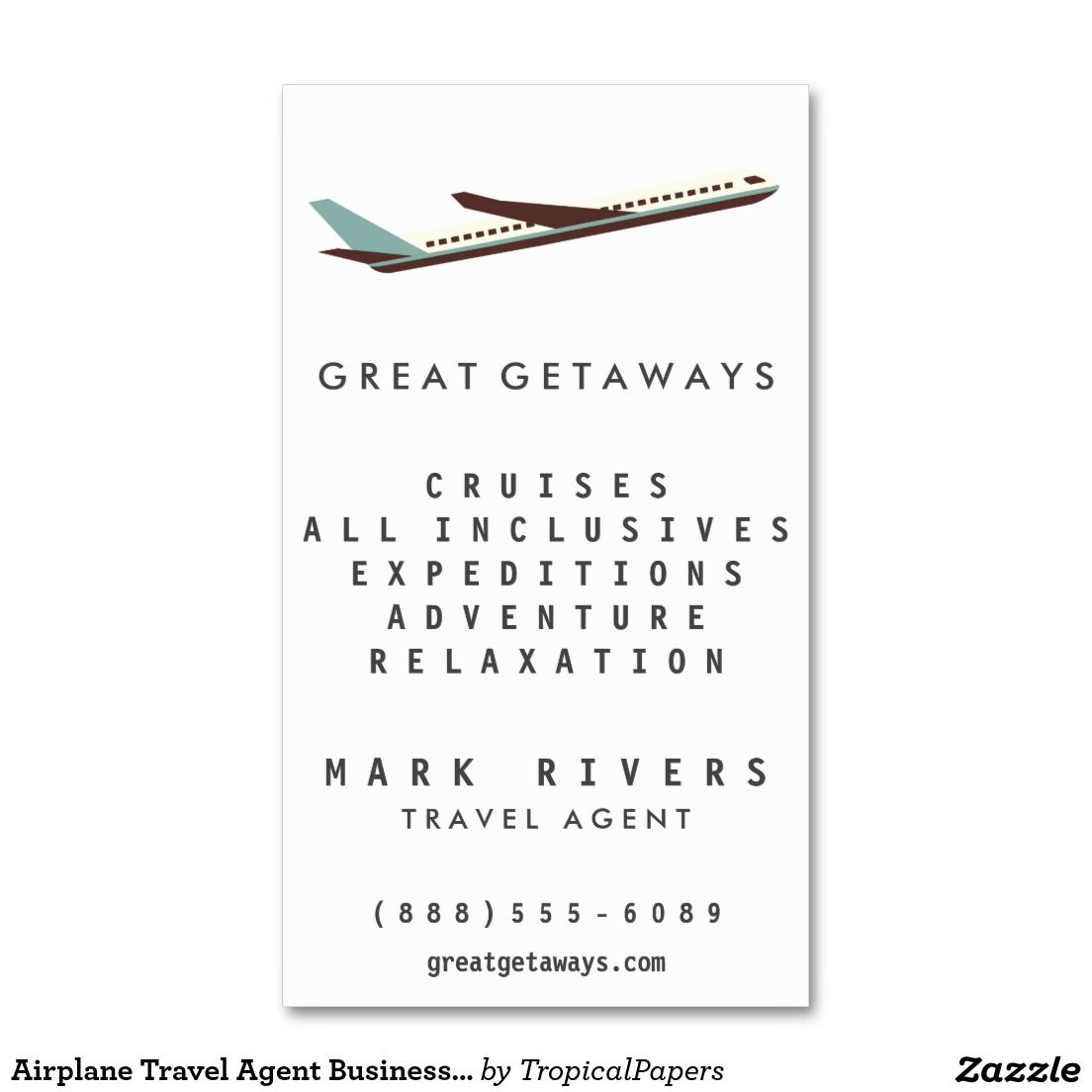 Airplane Travel Agent Business Card | Business Cards | Pinterest ...
