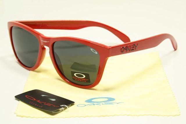 4d374b7cf0f Oakley Frogskins Sunglasses polished red frames black lens sale online