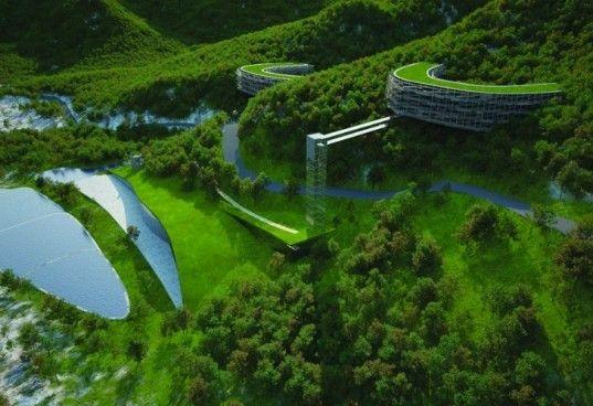 Mentougou Eriksson Architects Unveils Geodesic Gemstone Eco Valley For China Mimari