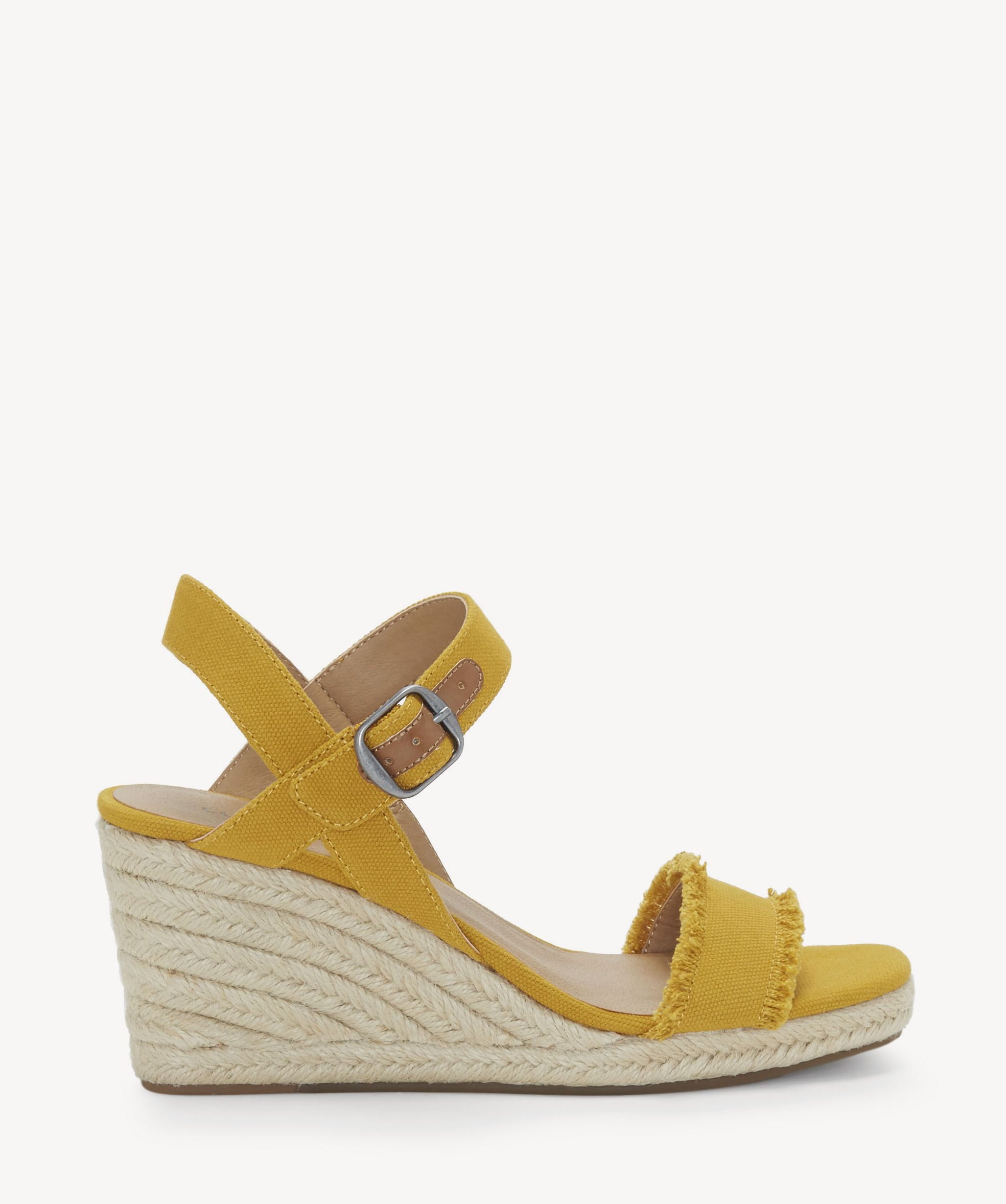 ef94fd0b301 Lucky Brand Marceline Espadrille Wedges Saffron | Size 10 Suede From ...