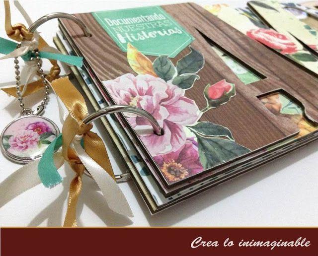 Hermoso #album creado con la colección dulces pinceladas de #texturarte te invitamos a darle un vistazo #scrapbook #manualidades #scrapbooking #crafting