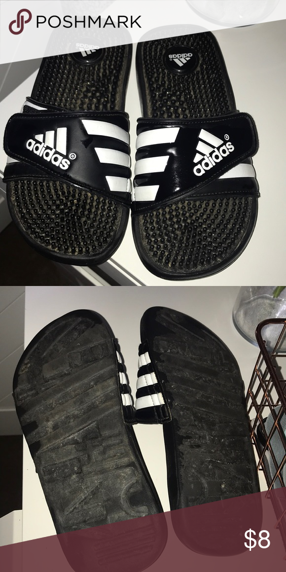 1138fe412 Kids adidas slides Excellent used condition!! Kids size youth 4 adidas  Shoes Sandals   Flip Flops