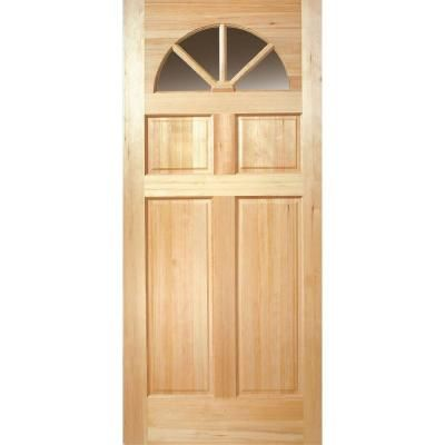 Fan Lite Unfinished Fir Slab Entry Door 87353 At The Home Depot Also