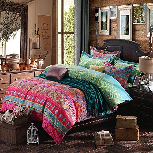 fadfay bettw sche set bettwaren queen king size farbenfroh exotisch unkonventionell boho. Black Bedroom Furniture Sets. Home Design Ideas