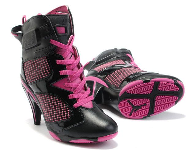 Air PinkBotas Women 6viHigh Heels Jordan Black JlF1Kc