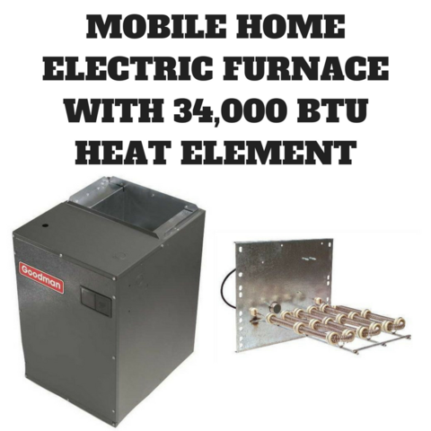 Mobile Home Electric Furnace 3 Ton 10kw 34 000 Btu 1200 Cfm