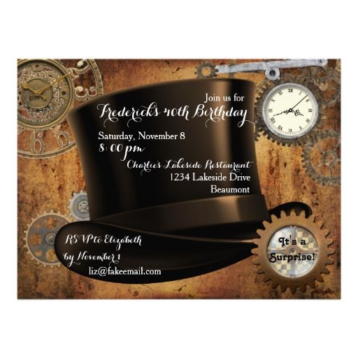 #Steampunk #Birthday #Invitations by Markalino Invitations #Zazzle
