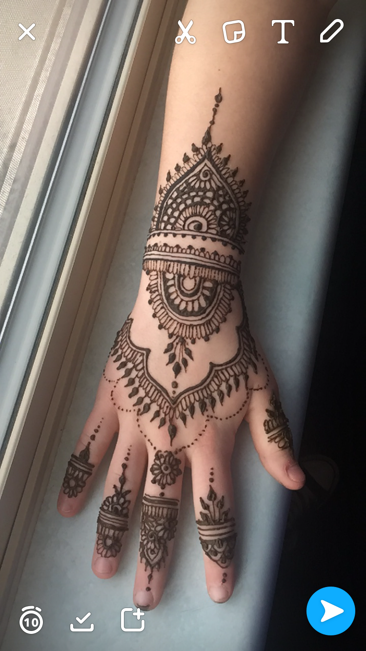 Wrist Henna Tattoo Pinterest Sheridanblasey: Henna Found The Design On Insta