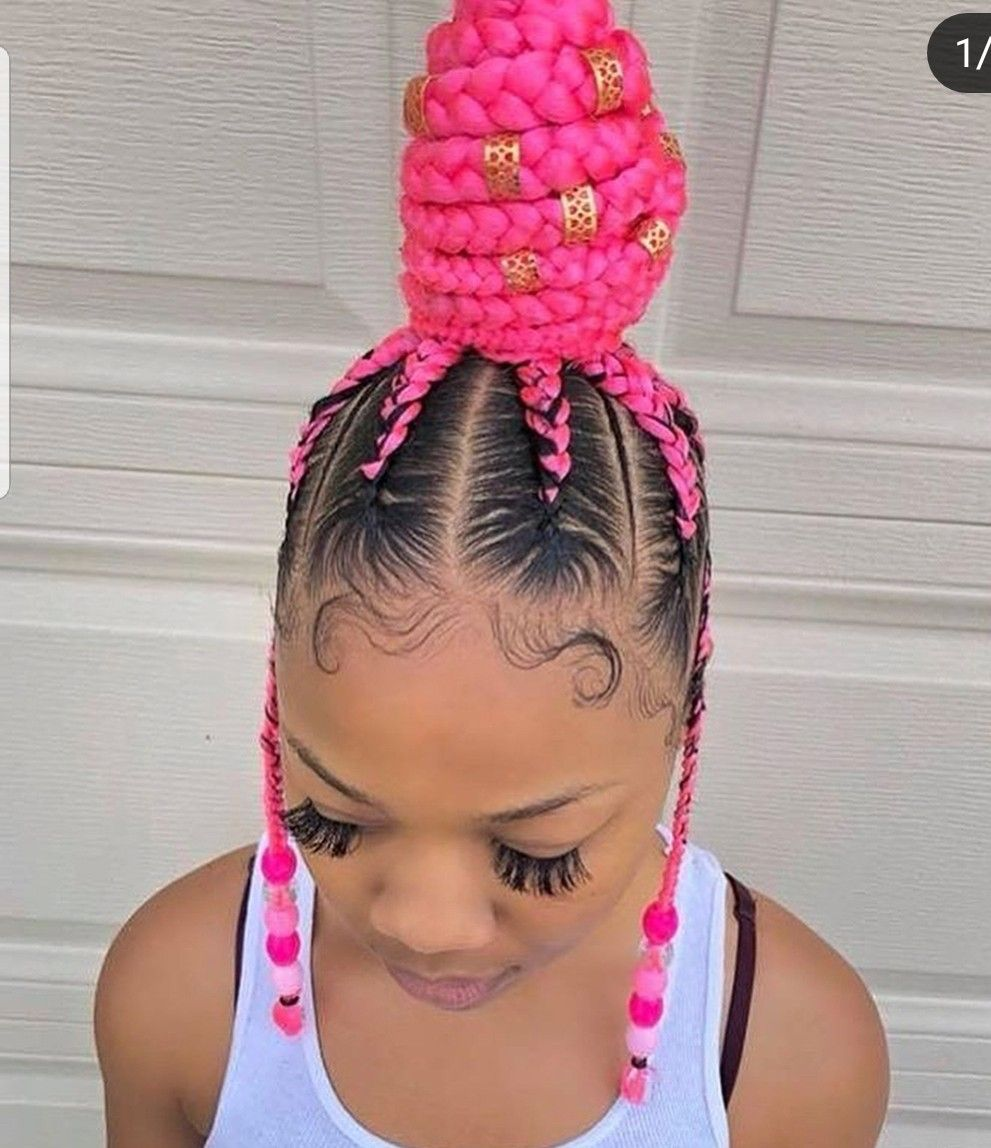 Cute Pink Cornrows Cornrow Braid Styles Cornrow Hairstyles