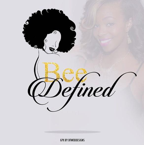 Natural Hair Logo for Bee Defined Hair logo design, Hair