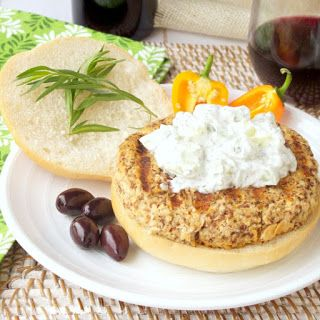 Simply Healthy Family: Grilled Mediterranean Salmon Burgers with Tzatziki and a Wine Pairing #SundaySupper