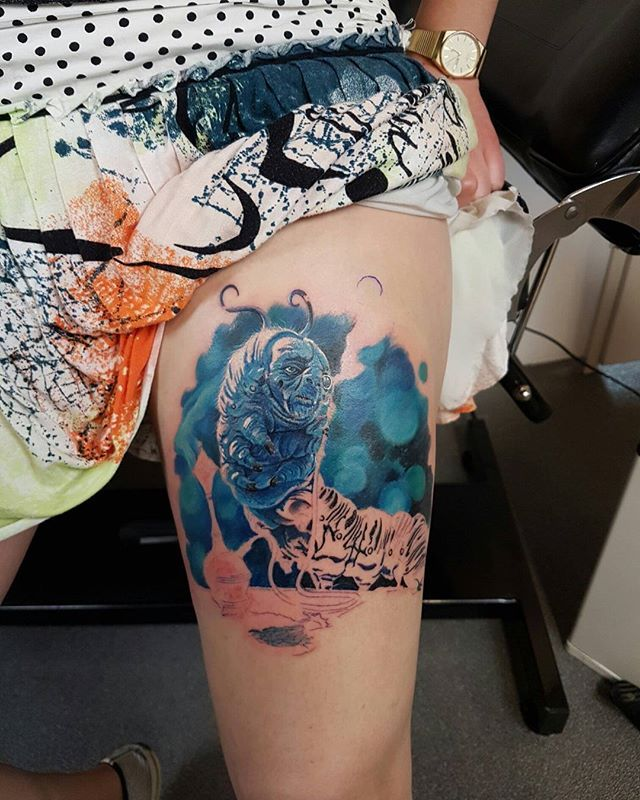 My Alice in wonderland Absolem caterpillar tattoo In ...