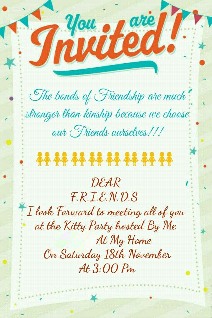 Invitation Card Kitty Party
