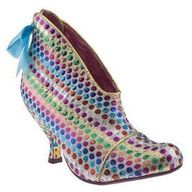 IC rainbow metallic booties