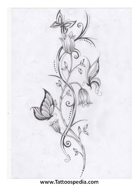Lotus Flower Vine Tattoo 8 Flower Vine Tattoos Vine Tattoos Butterfly With Flowers Tattoo