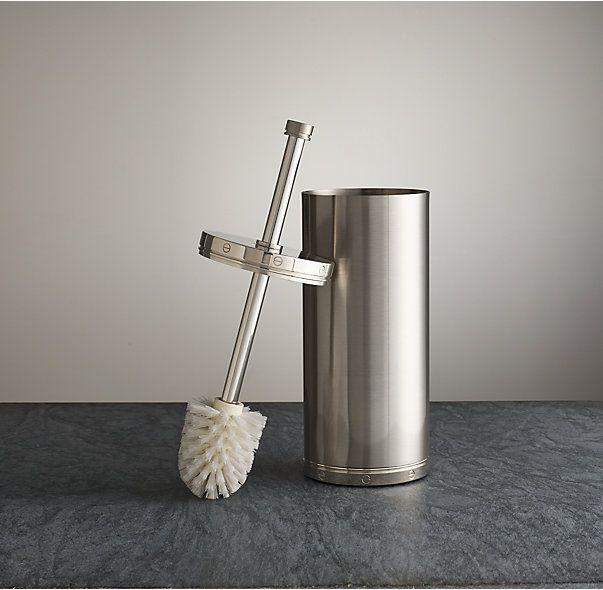 Bathroom Accessories Restoration Hardware rivet toilet brush | bath accessories | pinterest | toilet brush