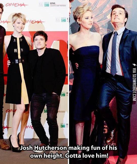 Josh Hutcherson Making Fun Of His Own Height Hunger Games Jennifer Hunger Games Humor Hunger Games Return to nuke 'em high volume 1. josh hutcherson making fun of his own