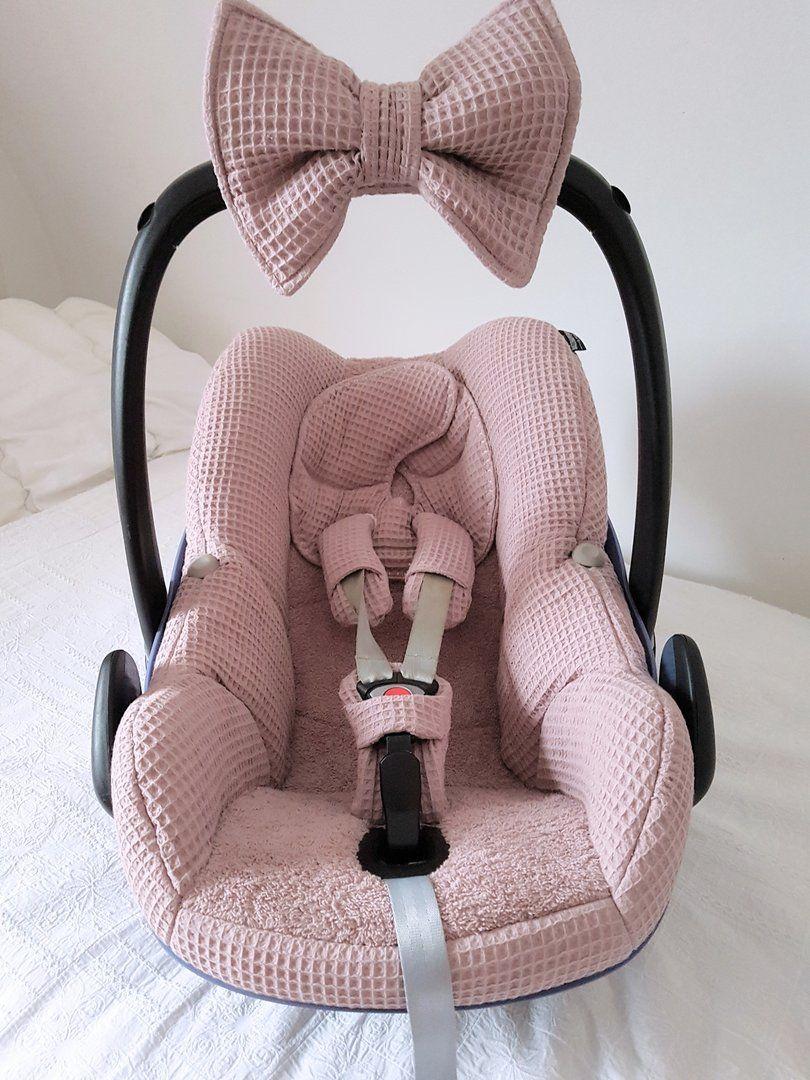 Bekleding Maxi Cosi Pebble Oud Roze Wafel Badstof Hoes Wafels Babies Baby Auto Zetels